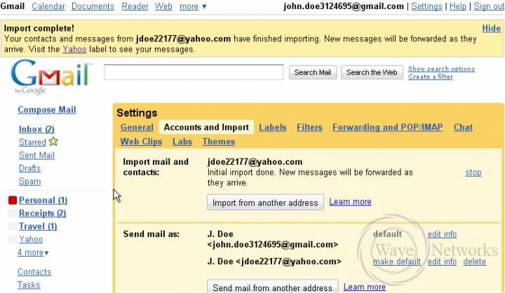 10  How to import mail and contacts from another email